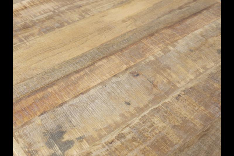 Urban Rustic Mango Wood Coffee Table Wheels