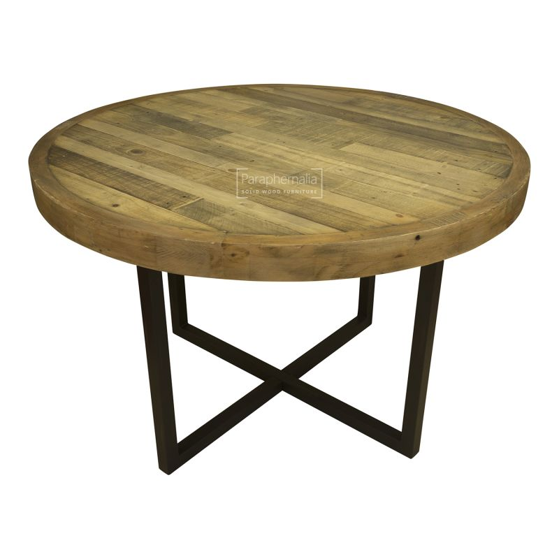 Wood Round Table.Dalat Industrial Round Dining Kitchen Table Reclaimed Wood Round Dining Table
