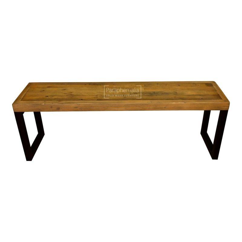 Pleasing Dalat Industrial Bench 155Cm Reclaimed Wood Bench Creativecarmelina Interior Chair Design Creativecarmelinacom
