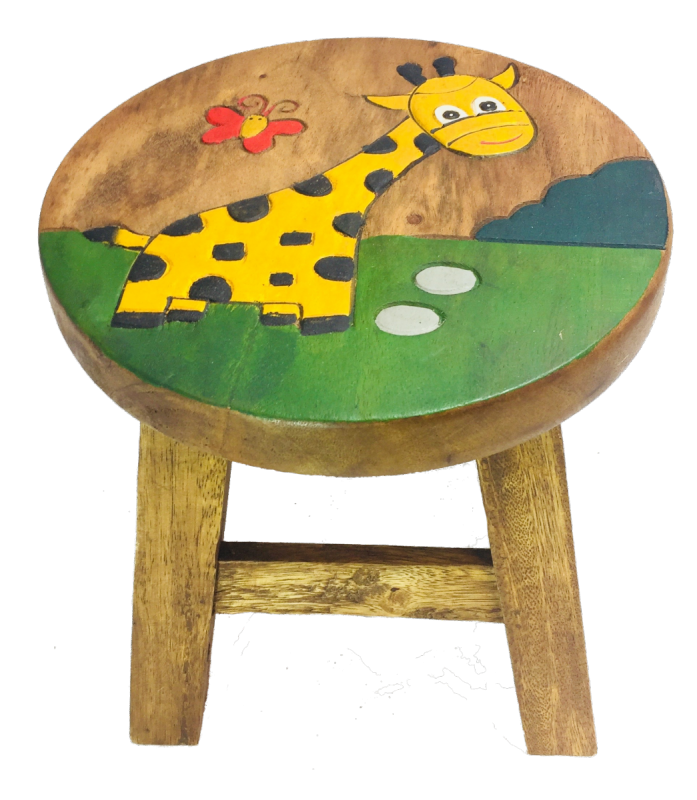 Fantastic Childrens Stool Kids Wooden Stool Giraffe Onthecornerstone Fun Painted Chair Ideas Images Onthecornerstoneorg