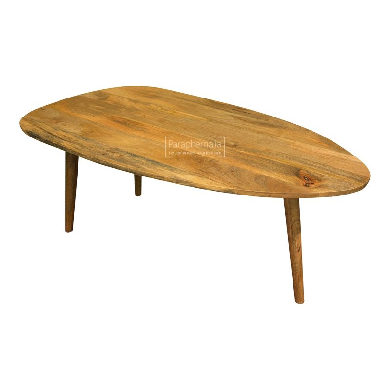 Oslo Light Mango Wood Coffee Table Oval Round