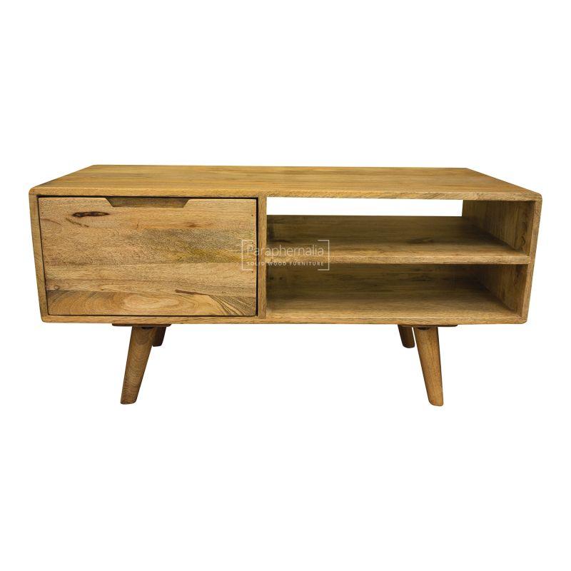 Oslo Light Mango Wood Tv Stand Coffee Table