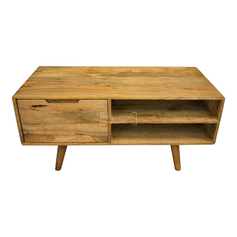 Oslo Light Mango Wood Tv Stand Coffee Table