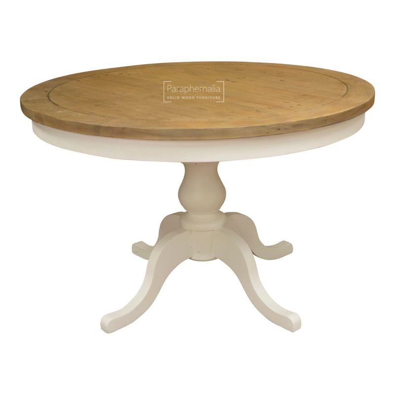 Himalaya Reclaimed Painted White Round Dining Table 100 Reclaimed Rustic Shabby Chic Tables Fsc Certified