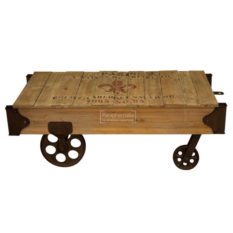 Railway Coffee Table On Wheels