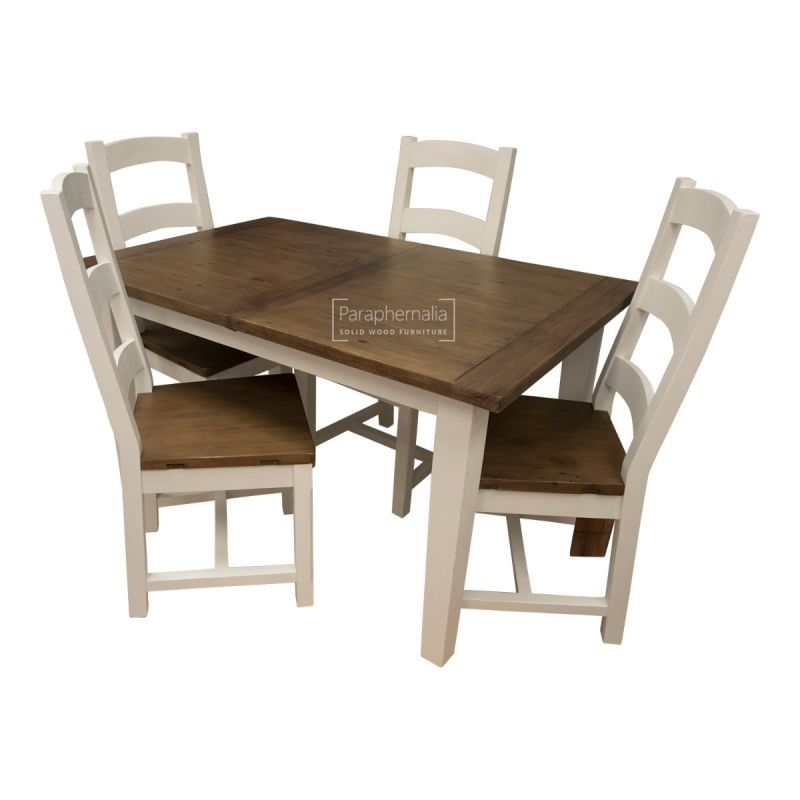 Superb Himalaya Reclaimed Wood Painted Dining Table Chairs Extends Interior Design Ideas Gentotryabchikinfo