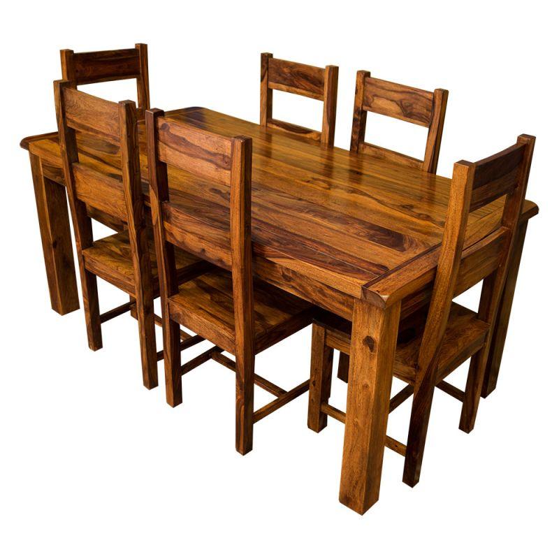 Samri Sheesham Dining Table Six Chairs