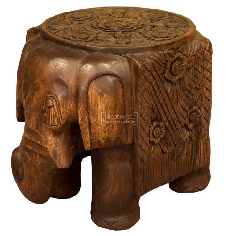 Sensational Monkey Pod Elephant Stool Table Waxed Flat Top Onthecornerstone Fun Painted Chair Ideas Images Onthecornerstoneorg
