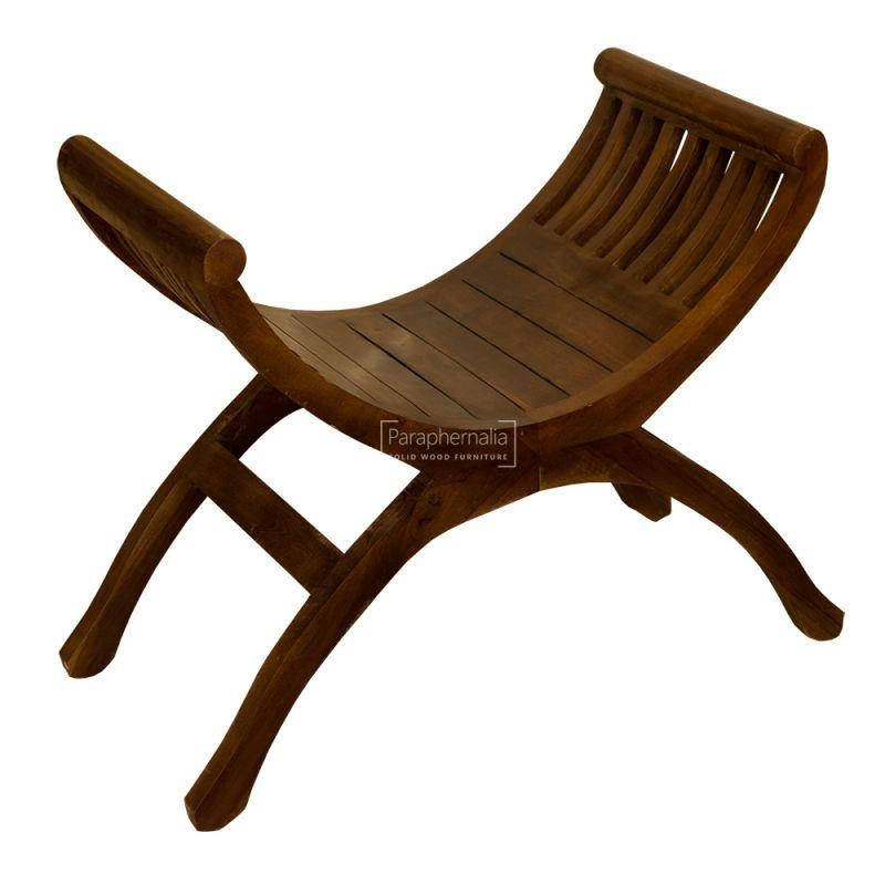 Outstanding Java Teak Curved Chair Seat Stool Dark Spiritservingveterans Wood Chair Design Ideas Spiritservingveteransorg