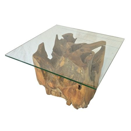 Java Teak Root Square Glass Top Coffee Table Teak Root Furniture