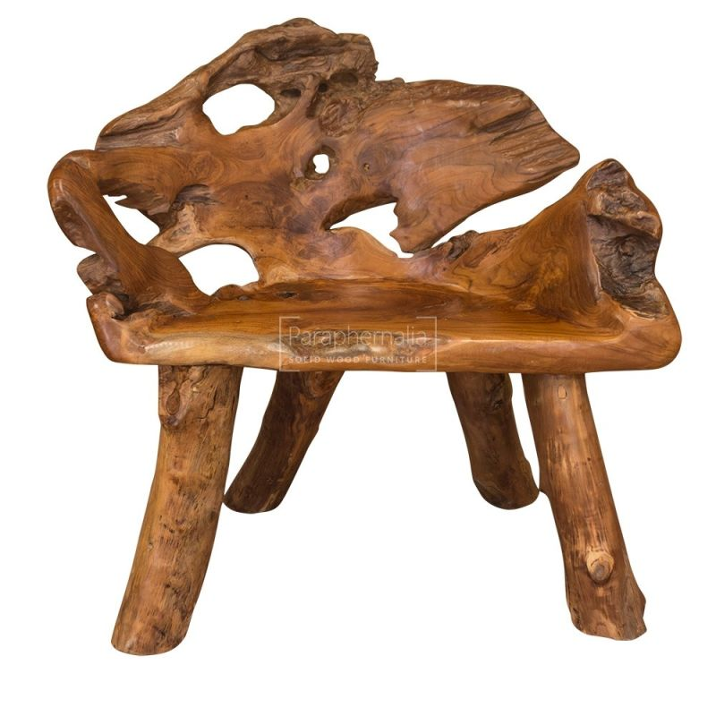 Java Teak Root Wood Chair Suitable For Indoor And Outdoor