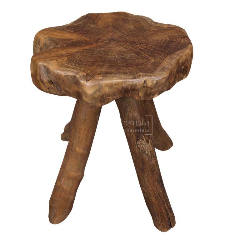 Groovy Java Teak Root Wood Stool Table Small Machost Co Dining Chair Design Ideas Machostcouk