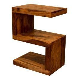 Gaya Cube Sheesham Wood S Shape Side Table Solid Indian