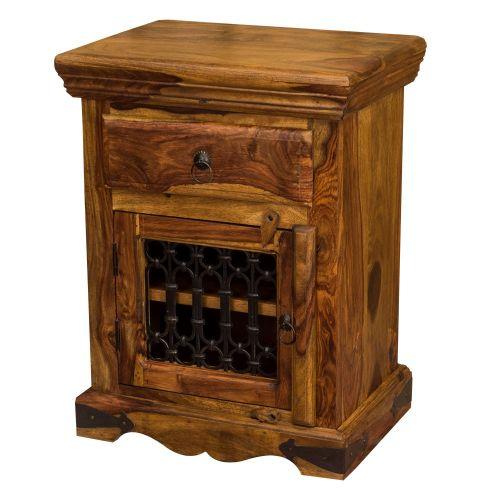 Jali Sheesham Bedside Table / Small Cupboard